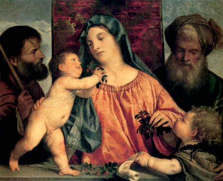 Titian (Tiziano Vecellio) - Madonna with the cherrys