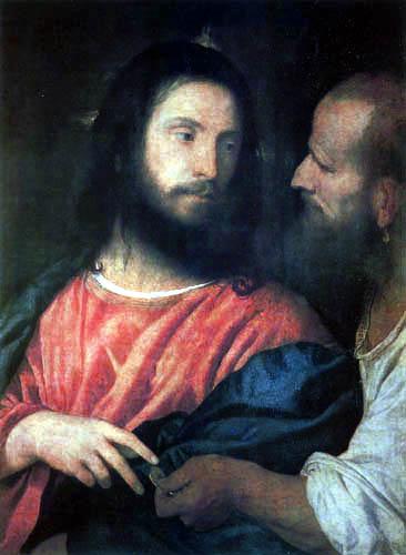 Tizian (Tiziano Vecellio) - Der Zinsgroschen