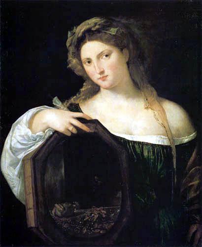 Tizian (Tiziano Vecellio) - Vanitas, Allegorie der Eitelkeit