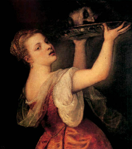 Titian (Tiziano Vecellio) - Salome with the Head of St John the Baptist