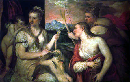 Tizian (Tiziano Vecellio) - Die Erziehung des Amor