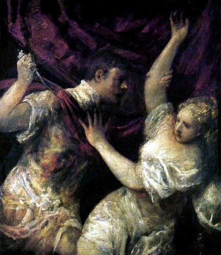 Tizian (Tiziano Vecellio) - Lucretia und Tarquinius