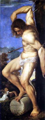 Tizian (Tiziano Vecellio) - Polyptychon Averoldi, Hl. Sebastian