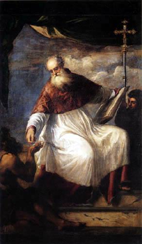 Tizian (Tiziano Vecellio) - Der hl. Johannes verteilt Almosen