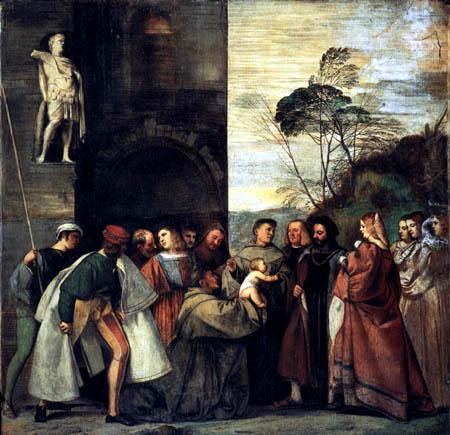 Tizian (Tiziano Vecellio) - Das Wunder des sprechenden Kindes