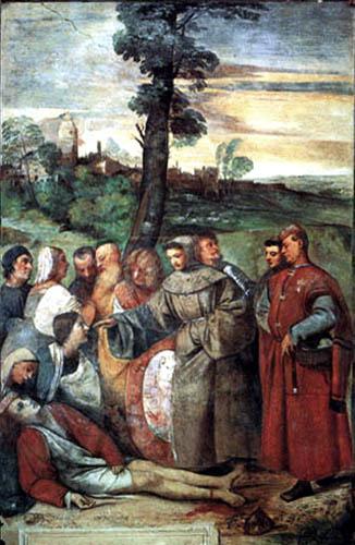 Tizian (Tiziano Vecellio) - Das Wunder des geheilten Beines