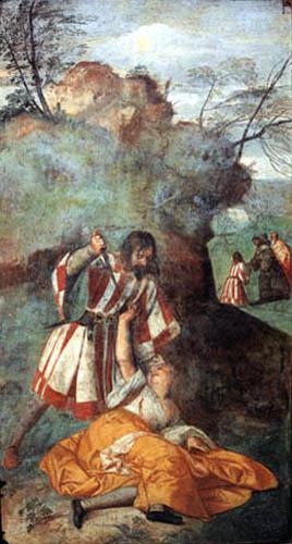 Tizian (Tiziano Vecellio) - Das Wunder der genesenen Frau