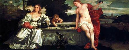 Tizian (Tiziano Vecellio) - Himmlische und Irdische Liebe