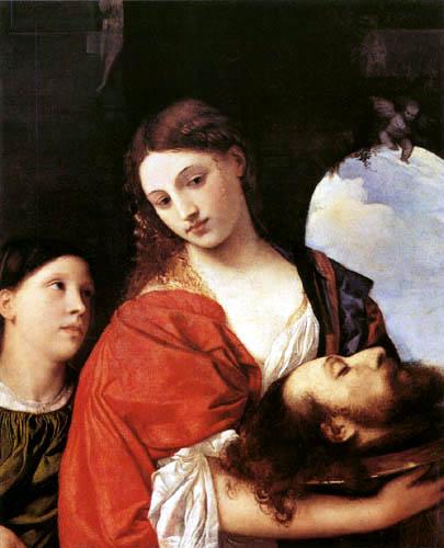 Tizian (Tiziano Vecellio) - Salomé