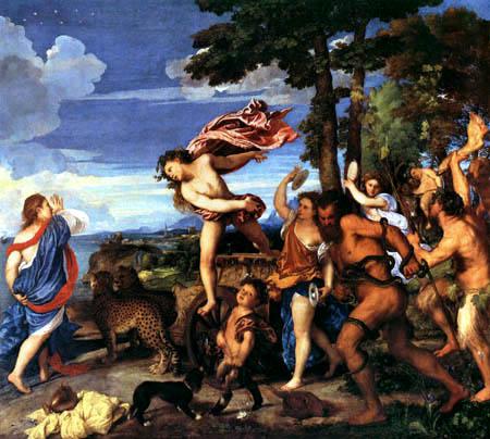 Tizian (Tiziano Vecellio) - Bacchus und Ariadne