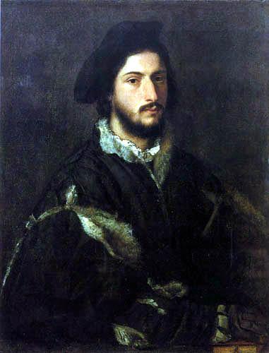 Tizian (Tiziano Vecellio) - Bildnis Vincenzo Mosti