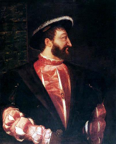 Tizian (Tiziano Vecellio) - Bildnis Franz I.