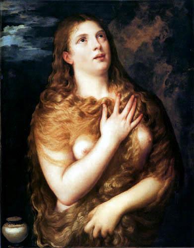 Tizian (Tiziano Vecellio) - Die heilige Magdalena