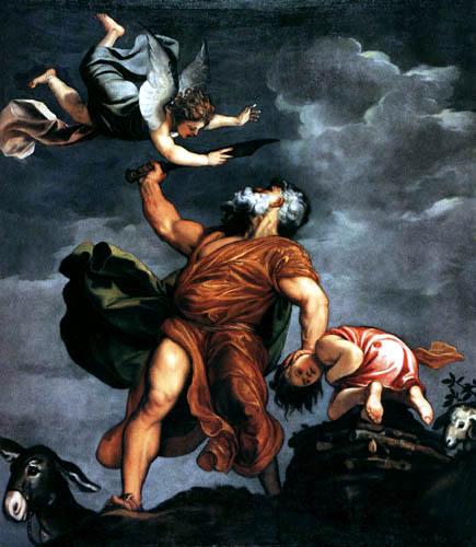 Tizian (Tiziano Vecellio) - Das Isaaksopfer