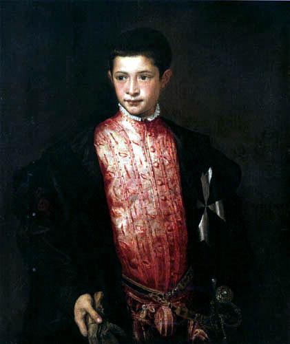 Tizian (Tiziano Vecellio) - Bildnis Ranuccio Farnese