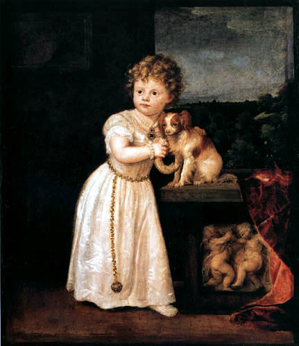 Tizian (Tiziano Vecellio) - Bildnis Clarissa Strozzi