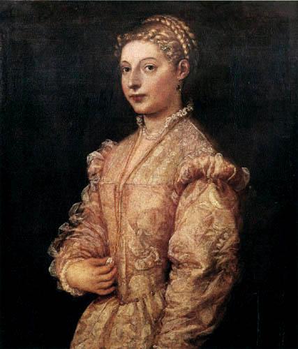 Tizian (Tiziano Vecellio) - Ein Mädchenporträt