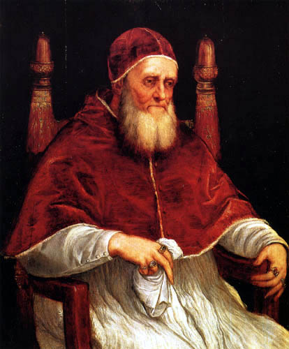 Tizian (Tiziano Vecellio) - Papst Julius II.