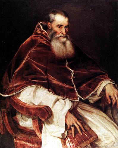 Tizian (Tiziano Vecellio) - Papst Paul III.