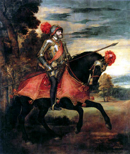 Tizian (Tiziano Vecellio) - Kaiser Karl V. bei Mühlberg