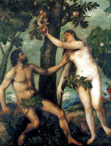 Tizian (Tiziano Vecellio) - Adam und Eva