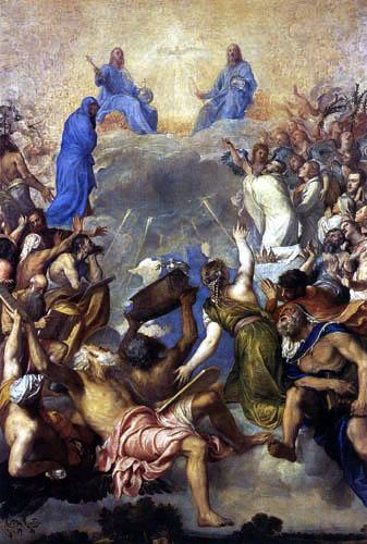 Tizian (Tiziano Vecellio) - Die Anbetung der Trinität