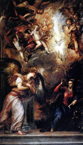 Tizian (Tiziano Vecellio) - Die Verkündigung