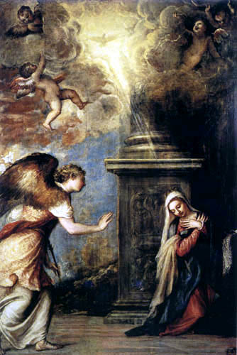 Tiziano Vecellio o Vecelli - La Anunciación