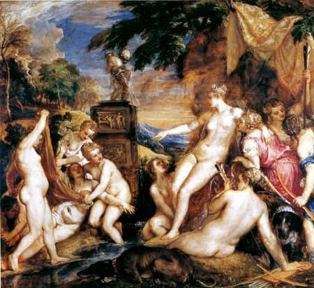 Tizian (Tiziano Vecellio) - Diana und Kallisto