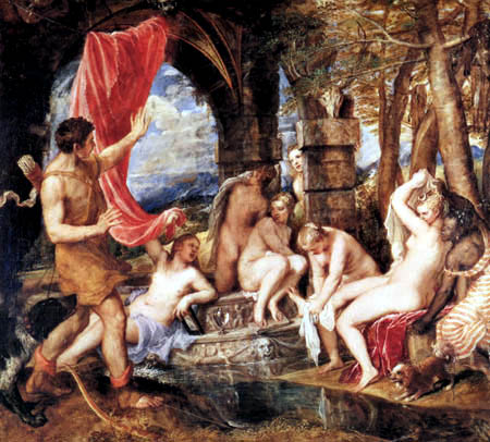 Titian (Tiziano Vecellio) - Diana and Actaeon