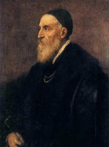 Tizian (Tiziano Vecellio) - Selbstbildnis