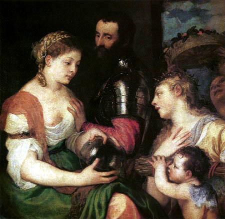 Tizian (Tiziano Vecellio) - Allegorie auf die Hochzeit