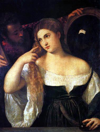 Titian (Tiziano Vecellio) - Young Woman