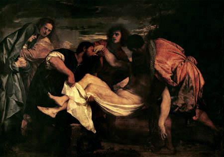 Tizian (Tiziano Vecellio) - Grablegung Christi