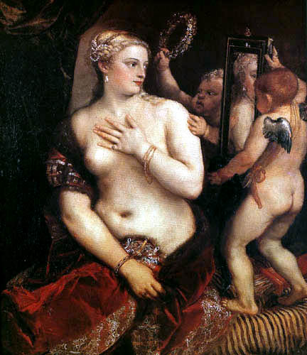 Titian (Tiziano Vecellio) - Venus vor dem Spiegel