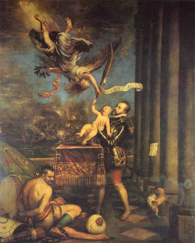 Titian (Tiziano Vecellio) - Allegory of the battle of Lepanto