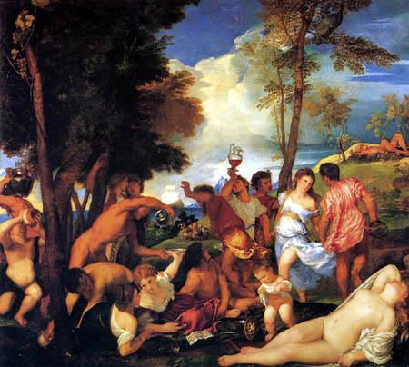 Tizian (Tiziano Vecellio) - Bacchenale