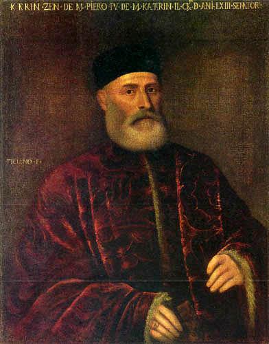 Tizian (Tiziano Vecellio) - Bildnis eines Senators