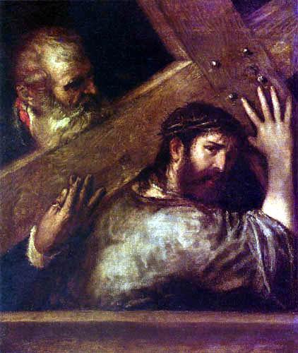 Tizian (Tiziano Vecellio) - Kreuztragung