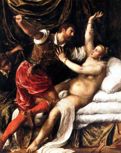 Tizian (Tiziano Vecellio) - Tarquinius und Lucrezia
