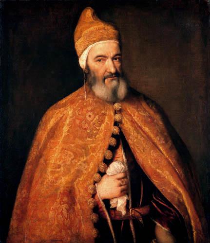 Tizian (Tiziano Vecellio) - Bildnis des Dogen Marcantonio Trevisiani