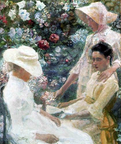 Jan (Johannes Theodor) Toorop - Damentrio mit Blumen
