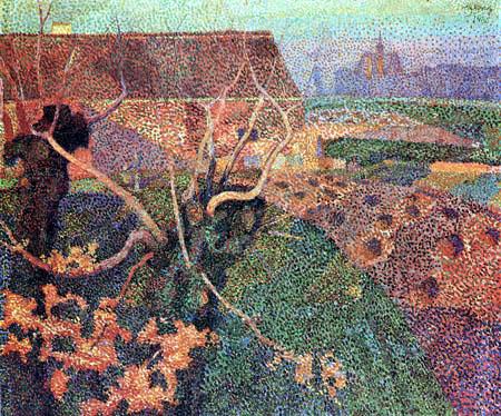 Jan (Johannes Theodor) Toorop - Blühender Wald bei Oegstgeest