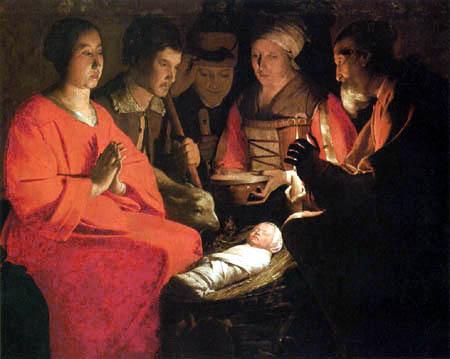 Georges de la Tour - The Adoration of the Herdsmen