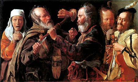 Georges de la Tour - Prügelnde Musiker