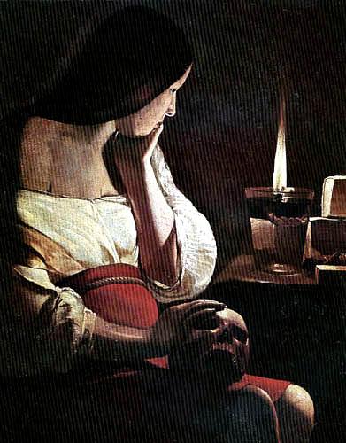 Georges de la Tour - Magdalena im Kerzenlicht
