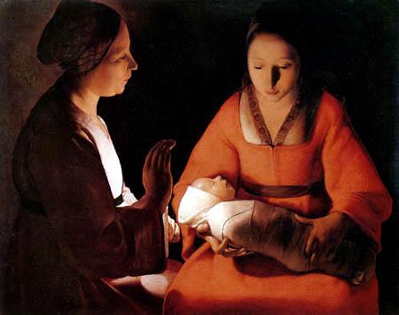 Georges de la Tour - The Newborn