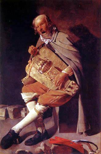 Georges de la Tour - Blind man with the hurdy-gurdy