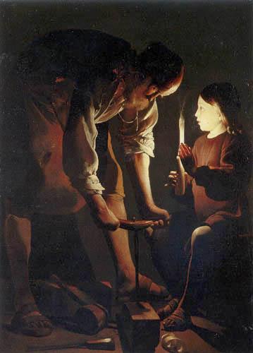Georges de la Tour - Saint Joseph as a Carpenter