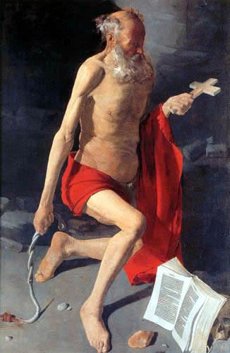 Georges de la Tour - The Penitent Saint Jerome